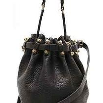 Alexander Wang Diego Bucket Bag With Antique Gold Hardware Pebbled Leather  Photo