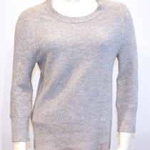 Alexander Wang  Gray Cashmere Knit Crewneck Casual Pullover Sweater Top Sz S Photo