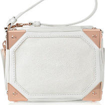 Alexander Wang Jade Trunk Wristlet White Stingray and Suede Rose Gold Hardware Photo