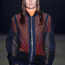 Alexander Wang Laser Cut Navy Bomber Jacket Photo