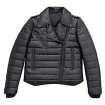 Alexander Wang Leather Motorcycle Jacket Sz4 Vogue Fav Free Aw Hm Stocking Cap Photo