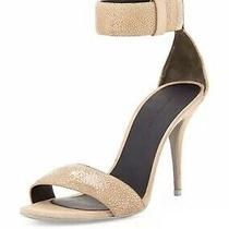 Alexander Wang Nude Stingray Suede Antonia Sandals Heels 730 Sold Out Sz 38.5 Photo