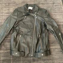 Alexander Wang Waxy Cow Moto Leather Jacket Sz 8 Never Worn Photo