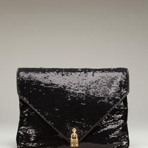 Alexis Hudson Black Sequin Ciara Envelope Clutch Photo