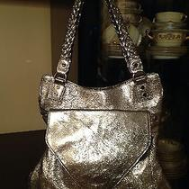 Alexis Hudson  Metallic Silver Handbag Orig Prize Over 500 Photo