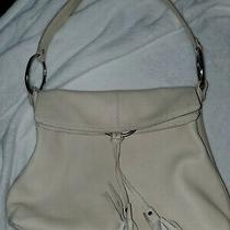 Alfani Leather  Beige  Hobo Shoulder  Handbag Purse 15 X 4 X 10 Photo