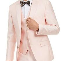 Alfani Mens Blazer Classic Light Blush Pink Size 42 Single Breasted 360- 068 Photo