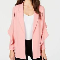 Alfani Women's Jacket Dusty Blush Pink Size Xl Ruffl-Sleeve Open-Front 99 411 Photo