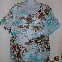 Alfred Dunner Ipanema Floral Print Top   Size 1x Plus   Nwt  Photo