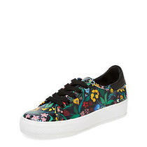 Alice and Olivia Nib Pemton Black Floral Tie Sneakers Size 38 8 B Retail 225 Photo