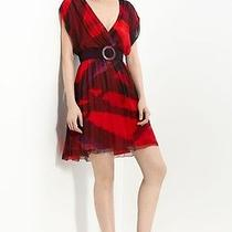 Alice and Olivia Printed Red Dress Large  Photo