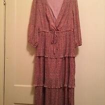 Alice Blue Boho Pink Blush Floral Crinkled Pleated Dress Sz Xl Nwot Photo