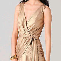 Alice by Temperley Gold Long River Maxi Dress - Uk12 Us8 Photo