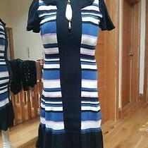 Alice by Temperley Stripe Stretch Cotton Dress Size Xs (Uk 8-10) Photo