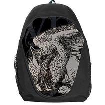 Alice in Wonderland Graphic Gryphon Grunge Backpack Rucksack School Bag Photo