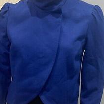 Alice  Olivia Addison  Crop Jacket Blue  Blazer  Size S/p. Retail 369 Photo