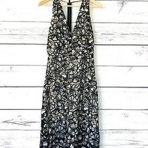 Alice  Olivia Black White Dress Size 6 v Neck T Back Embroidery Lined New Photo