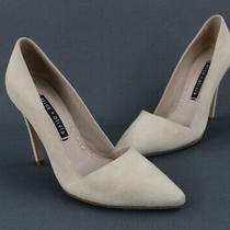 Alice  Olivia Blush Cream Suede Heels Pumps Shoes Size 37.5 7.5 Photo