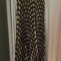 Alice  Olivia Check Plaid Maxi Skirt Black White and Gold. Size 4. New Photo