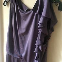 Alice  Olivia Draped Purple Dress Size M Photo
