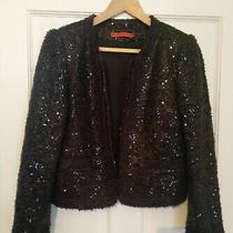 Alice  Olivia Sequin Black Jacket (Used) Size 8 Photo