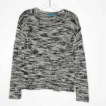 Alice  Olivia Wool Blend Black White Pullover Long Sleeve Sweater Sz Xs X-Small Photo