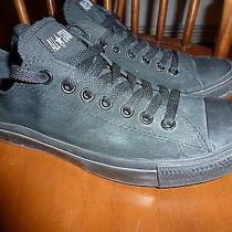 All Black Converse All Stars Men's 8.5 Women's 10 Low Top Sneakers Chuck Taylors Photo