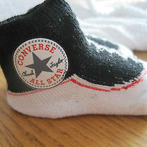 All Star Converse Baby Socks Booties Nib You Pick Colors 0-6 Mos Photo