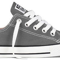 All Star Converse Charcoal Low Top 3j794 Youth Size 2 Photo