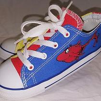 All Star Converse Size 10 Toddler Boys Dr. Seuss One Fish Two Fish Shoes Euc Photo