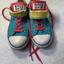 All Star Converse Women Size 5. Color Teal Blue and Pink Photo