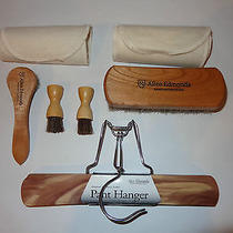 Allen Edmonds Shine Horsehair Brush Cloth Applicator Kit Dauber Pants Hanger  Photo