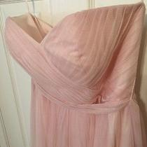 Allure Bridesmaid 1431 Light Pink Tulle Sz 8 Dress Gown Prom Formal Blush Rose Photo