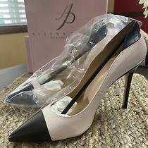Allysa Payne Paniya Pump Italian Leather Heel Size 38 100% Italian Black/pink Photo