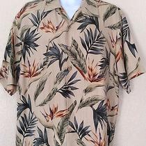 Aloha Hawaiian Shirt Bird of Paradise Silk M Honolulu Lulu Photo