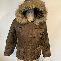 Alpha Industries Parker Bomber Jacket Coat Brown Small Vintage 8 Photo