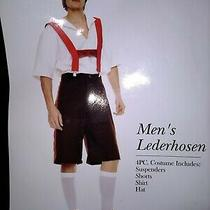 Alpine Beer Lederhosen Costume Party Fantasy Role Play Adult Men Size Xl Xg Photo
