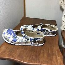 Alpro by Birkenstock Clogs Mules Blue Floral Us 10 Eu 41 Germany New 265 Photo