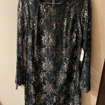 Altar'd State Rose Gold & Black Floral Dress Large Originally 99.95 Photo