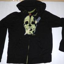 Alternative Fashion Designer Paul Frank Skull Polka Dot Dagger Black Hoodie L Photo