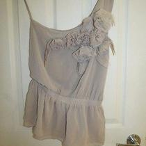 Alythea Anthropologie Blushing Beauty Cascading Flowers Bustier One Strap Small Photo