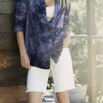 Amadi Women's Blazer Anthropologie Purple Oversized Linen Tye Dye Size Small Nwt Photo