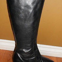 Amanda Smith Black Leather Size 10m Style Christie Photo