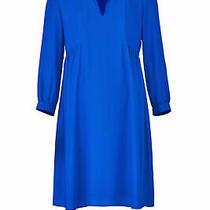 Amanda Uprichard Women's Dress Blue Size Xxl Shift Maternity v-Neck 210- 433 Photo