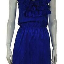 Amanda Uprichard Womens Dress Size P Blue Solid Sheath Above Knee Sleeveless Photo