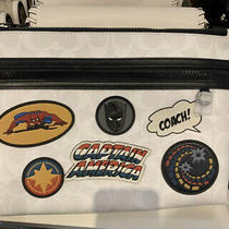 Amazing Avengers Themed Nwt Coach 1829 Marvel Signature Patches Large Pouch Photo