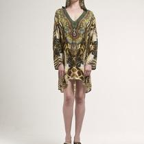 Amazing Camilla Franks Silk Rattlesnake Kaftan Amazing Print Osfa New Photo