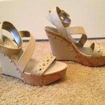 Amazing Guess Wedges Size 9.5 Nude Value 70 Photo