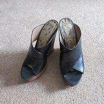 Amazing Sam Edelman Jorgia Black Cutout Wedge Slip on Sandals 9 Photo