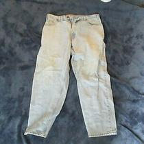 Amazing Vintage 1990's Levis Jean 560 Red Tab Loose Fit Tapered Leg Size 38 X 30 Photo